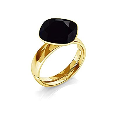 Anillo cristal negro - Beforya Paris