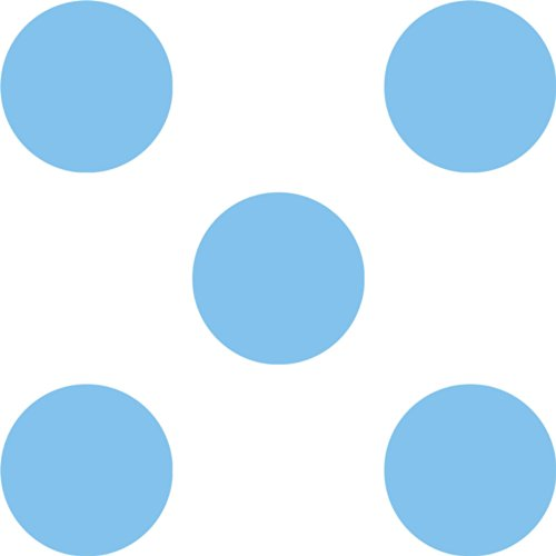 Wall Pops / WallPOPS Repositionable Designs Way Cool Blue Polka Dots