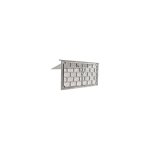 Gaf LW1 Grill Foundation Vent with Damper, 50 sq-in, Aluminum, Mill