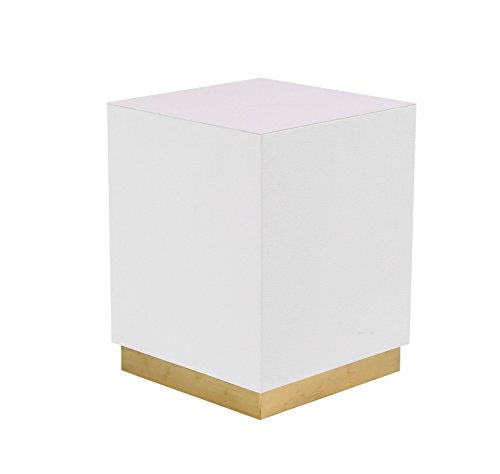 Deco 79 62776 Accent Table White, Gold by Deco 79 (Image #2)