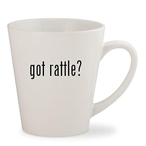 got rattle? - White 12oz Ceramic Latte Mug Cup (Bla Bla Rattle)