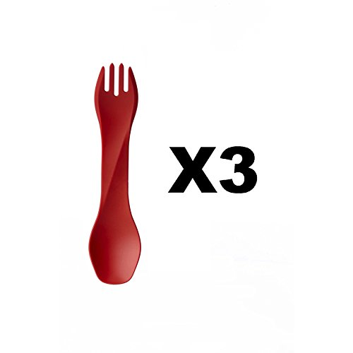 humangear-gobites-uno-utensil-fork-and-spoon-bpa-free-camping-tool-red-3-pack