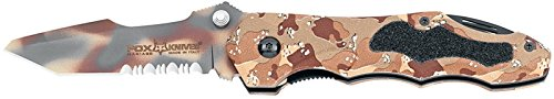 RUKO Fox Bradley Folding Knife, Desert Camouflage
