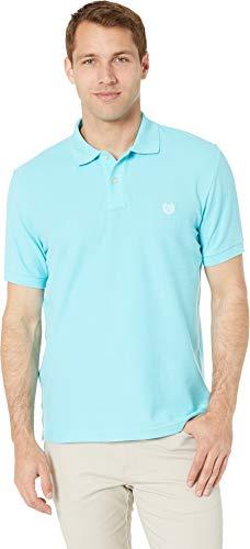 Chaps Men's Polo-Short Sleeve-Knit Blue ()
