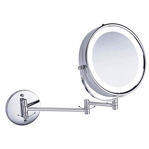 SYDDP Bathroom Vanity Mirrors Makeup Mirror Stainless Steel Thick LED Back-lite Shaving -