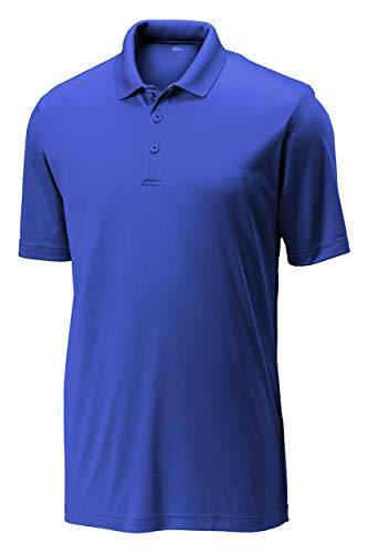 Cotton Golf Polo Stretch - Opna Mens Dry-Fit Golf Polo Shirts,Royal,X-Large