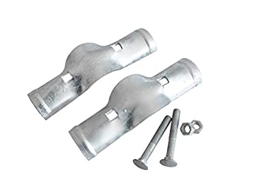 V Gard Rail Boulevard Clamp, Zinc Coated ,Without Burr,Bagged