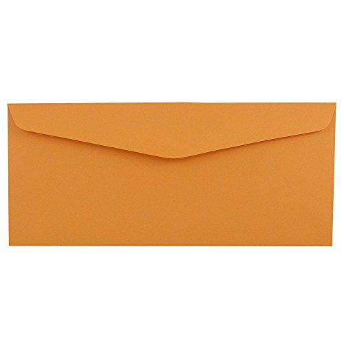 - JAM PAPER #12 Recycled Envelopes - 4 3/4 x 11 - Brown Kraft Manila - 50/Pack