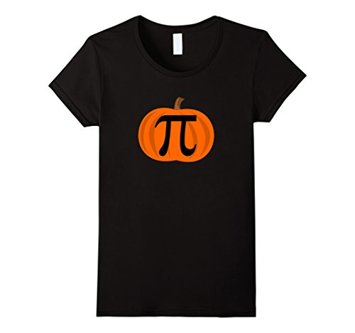 Womens Pumpkin Pi 3.14 Funny Halloween Costume Shirts Medium Black (Easy Homemade Costumes For Adults)