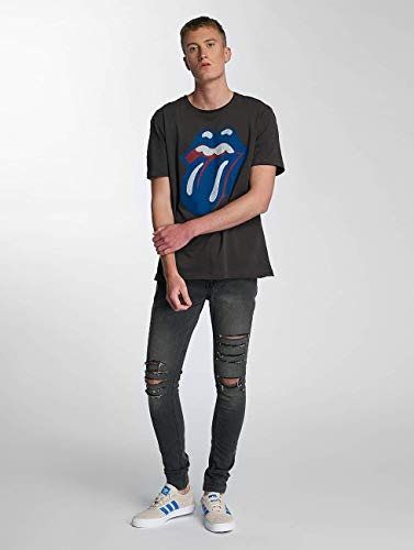 Homme shirt Stones Gris Hauts Lonesome Blue Amplified t Rolling Und dvtd4