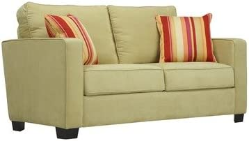 Handy Living Madison Kiwi Green Microfiber Sofa