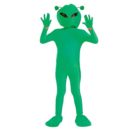 fun shack Kids Alien Costume Childrens Green Martian Extraterrestrial Outfit - Large ()