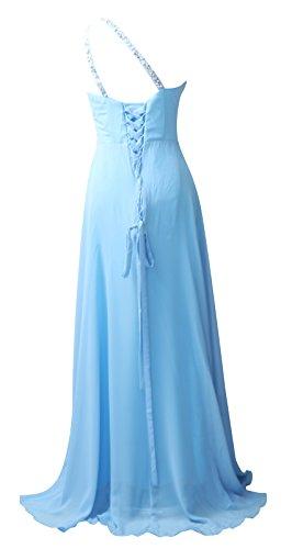 ROBLORA-Vestido de noche de Cóctel formal del vestido de boda de dama de honor Celine01 Azul