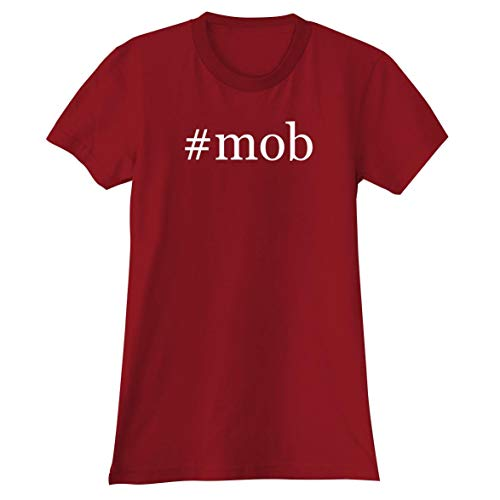 #Mob - A Soft & Comfortable Hashtag Women's Junior Cut T-Shirt, Red, Small