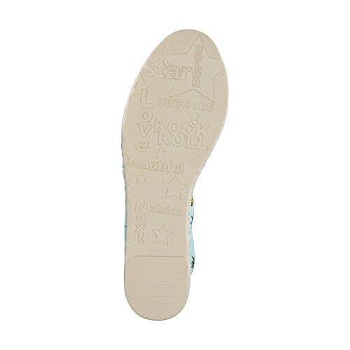 Another A Damen Trend-Espadrille Blau Textil 39
