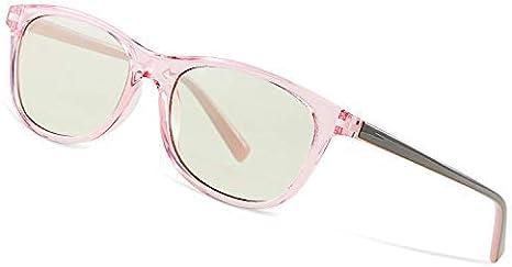 Avoalre Gafas Anti Luz Azul Transparente Gafas Unisex Ligeras para Hombre y Mujer de Oficina, Antifatiga y Protección de Vista Cansada para Pantalla Móvil Ordenador, Marco Rosa