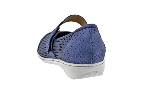 schuhe Damenlederschuh bequem breit Marino klettverschluss einlegesohlen Piesanto 8756 Komfort herausnehmbaren IBxqnvwCI