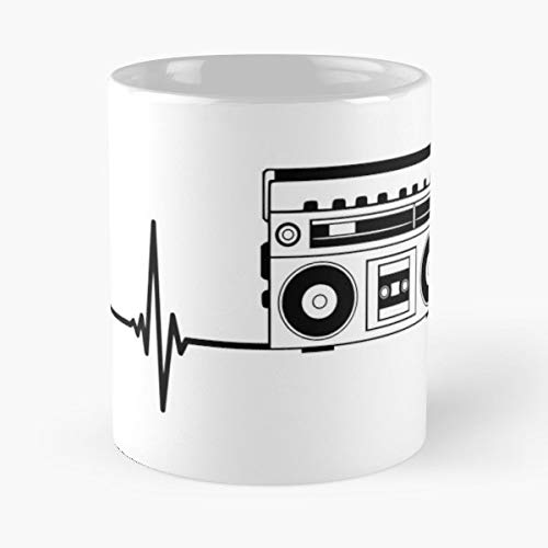 Beat Heartbeat Heart Flatline - White -coffee Mug- Unique Birthday Gift-the Best Gift For Holidays- 11 Oz.