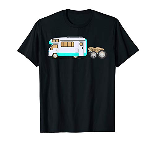 RV Toad Funny Car In Tow Camping T-Shirt (Best Toad For Rv)