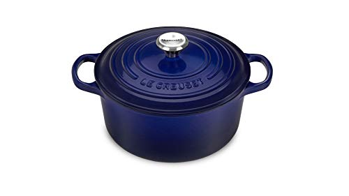 Le Creuset Dutch Oven - Signature Enameled Cast Iron - 2.75-quart Round - Indigo Blue ()