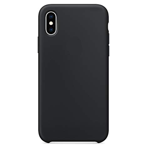 Maycase Compatible for iPhone Xs Case, Liquid Silicone Case Compatible with iPhone Xs 5.8 inch (Black)