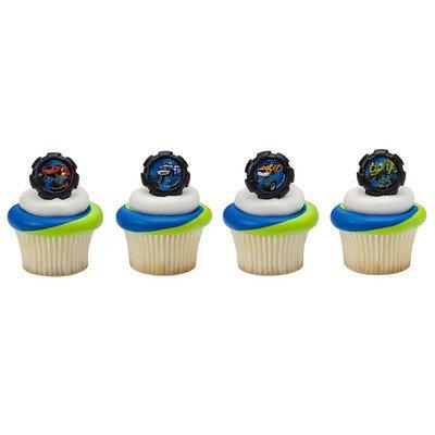 Monster Cupcake (Blaze Wheels Cupcake Rings - 24 ct)