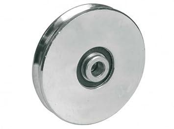 Rueda de rueda de la rueda de la rueda de la rueda 120mm Rueda de acero de la ranura del cable redondo para el alambre o la cuerda: Amazon.es: Coche y moto