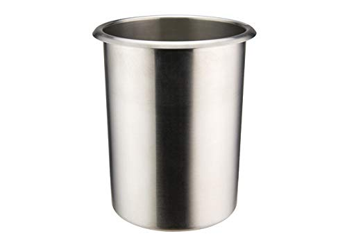 Winco BAMN-12, 12-Quart Stainless Steel Bain Marie Pot W/О Lid, NSF, Double Boiler, Sauce Pot
