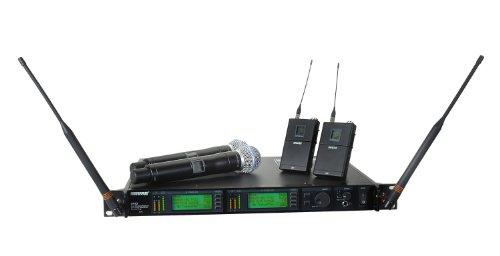 Shure UR124D/Beta58 Dual-Channel Combo System, (Ur4d Dual Channel Receiver)