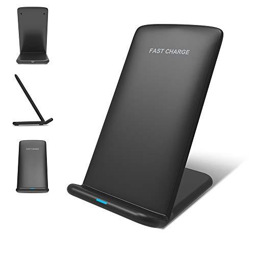 Dayangiii Carga rápida QI Cargador inalámbrico 1,2 Carga rápida para iPhone 8 10 X Samsung S6 S7 S8 2-5 V/2A y 9 V/1.67 A...