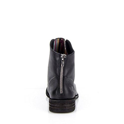 Felmini - Damen Schuhe - Verlieben Bomber 8497 - Schnüren Sie sich oben Stiefel - Echtes Leather - Schwarz- EU:41