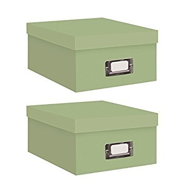 Pioneer Photo Albums Photo Storage Box (Sage Green/Two Count) by Pioneer Photo Albums
