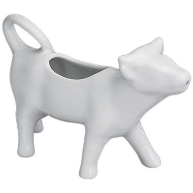 Cilio Premium Cow Shaped Milk Cream Jug in Porcelain White 125ml