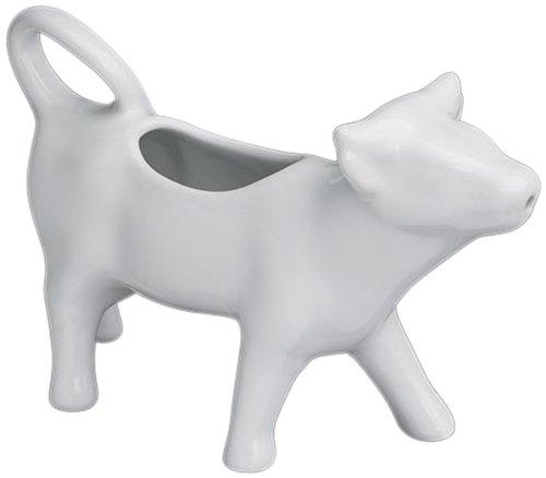 (Cilio Premium Cow Shaped Milk Cream Jug in Porcelain White 125ml)