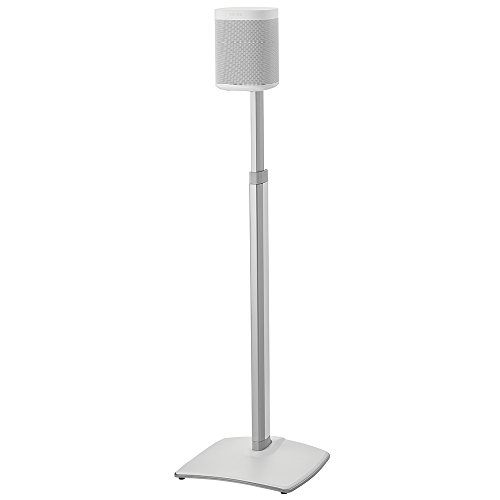 (Sanus Adjustable Height Wireless Speaker Stands Designed for SONOS ONE, Play:1, and Play:3 - Tool-Free Height Adjust Up to 16
