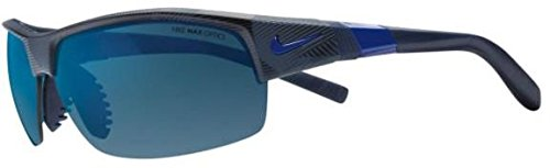 Nike Golf Show X2 R Sunglasses, Matte Obsidian/Game Royal/Shatter Frame, Grey with Blue Night Flash/Grey - Sunglasses Show Nike X2