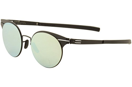 Used, ic! Berlin Carla L. Black Black Metal Round Sunglasses for sale  Delivered anywhere in USA