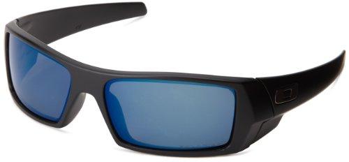Oakley Men's GasCan Sunglasses,Matte Black/Ice Iridium Polarized (Oakley Ice Iridium compare prices)