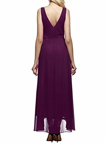 Aline Occasionnel En Mousseline De Soie Haute Robes Bas De Soirée Pour Les Femmes, Plus Des Robes De Cocktail Taille Du Parti Rouge