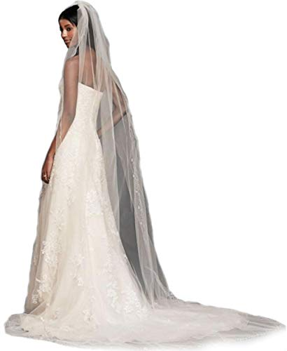 (Gogh Ivory 1 Tier 3M Cathedral Floral Beaded Scallop Edge veils bridal wedding veils 2017 27)