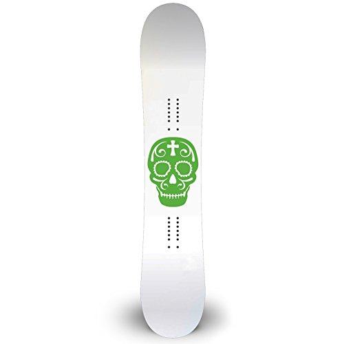 Sugar Skull Outline Snowboard Sticker All Weather 6