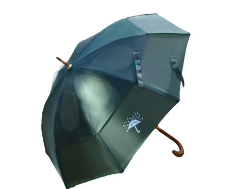 GustBuster Classic 48-Inch Automatic Umbrella, Rain Drops Edition