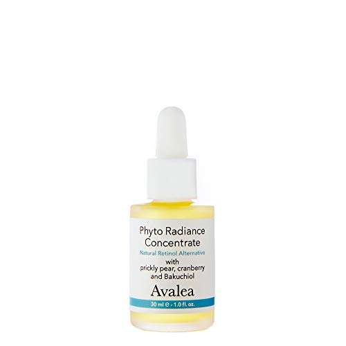 Avalea Phyto Radiance Concentrate With Bakuchiol & Vitamin C - A Natural Alternative To Retinol For Fine Lines & Wrinkles - Anti Aging Face Oil/Retinol Serum, 1.0 fl. oz.