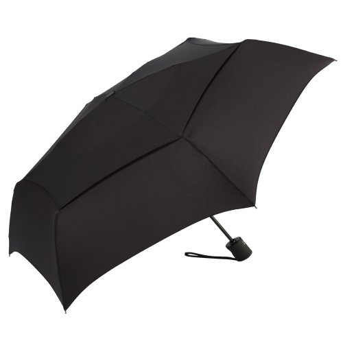 ShedRain Umbrellas Luggage Windpro Flatwear Vented Auto Open and Close Umbrella, Black, One Size