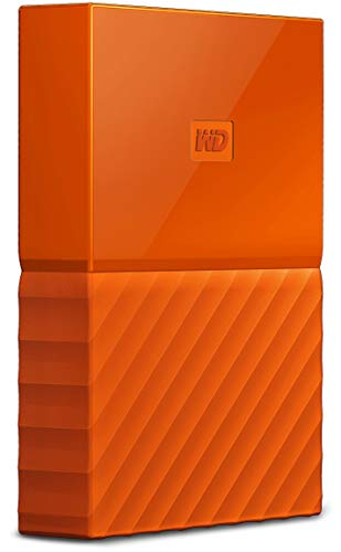 WD My Passport 1 TB Portable Hard Drive for PC, Xbox One and PlayStation 4 - Orange