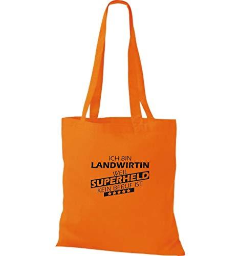 Para Tela Shirtstown Mujer De Naranja Bolso Algodón fzISw6n0q