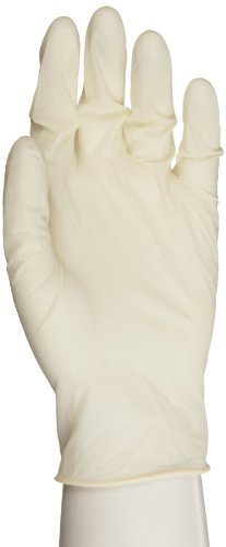 Microflex ComfortGrip Latex Glove, Powder Free, 9.6'' Length, 5 mils Thick, Small (Pack of 100) by Microflex