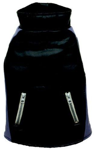 Dogit Faux Leather Matrix Dog Coat, Large, Black