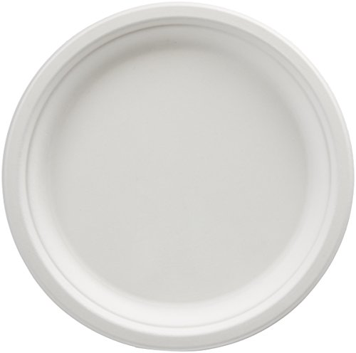 AmazonBasics 10-Inch Compostable Plates, 500-Count