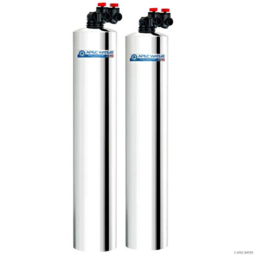 APEC Water Systems WH-SOLUTION-10 Whole House Filter & Salt Free Water Softener Systems for 1-3 Bathrooms ()